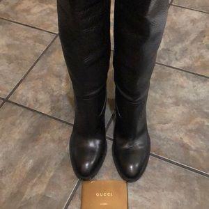 Gucci  black riding boots